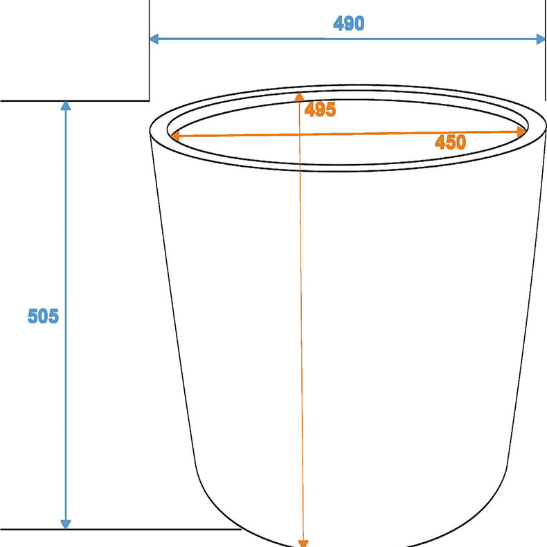 EUROPALMS Suojaruukku D49/H=50cm o lasikuitua, savijäljitelmä