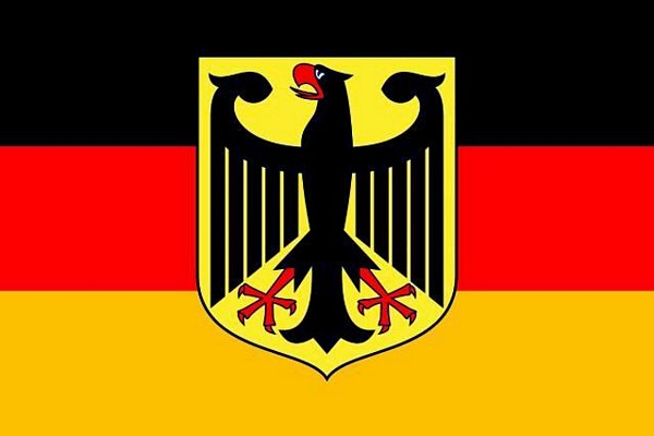 DECO VALTAVAN kokoinen lippu 6 x 3,6 METRIÄ!!!, Flag 600 x 360cm Germany with eagle