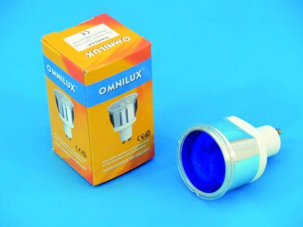 OMNILUX GU-10 ES 230V/9W blue Energy Saving Lamp
