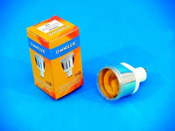 OMNILUX GU-10 ES 230V/9W yellow Energy S, discoland.fi
