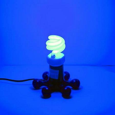 OMNILUX ES-15W E27 twisted spiral sininen energiansäätölmappu kierretty spiraali versio. Teho 15W , vastaavuus n.60W  halogeeni lamppu.
