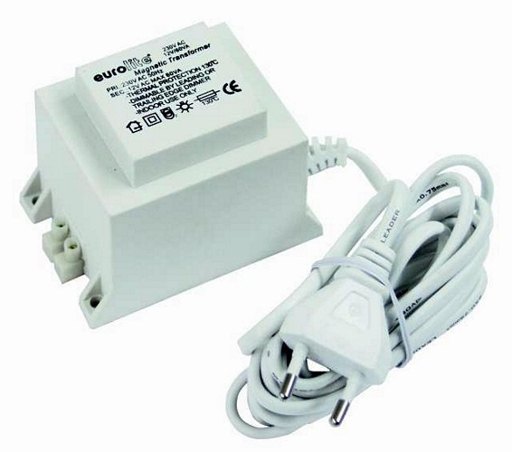 EUROLITE Transformer 12V/ 60VA, insulated housing completely closed