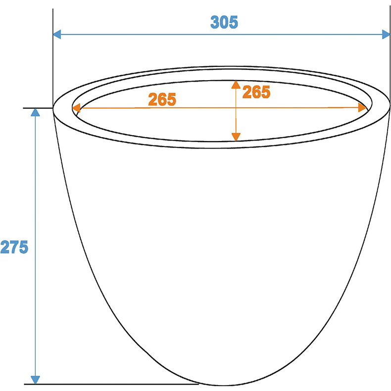 EUROPALMS Suojaruukku D31/H=28cm [) lasikuitua, savijäljitelmä