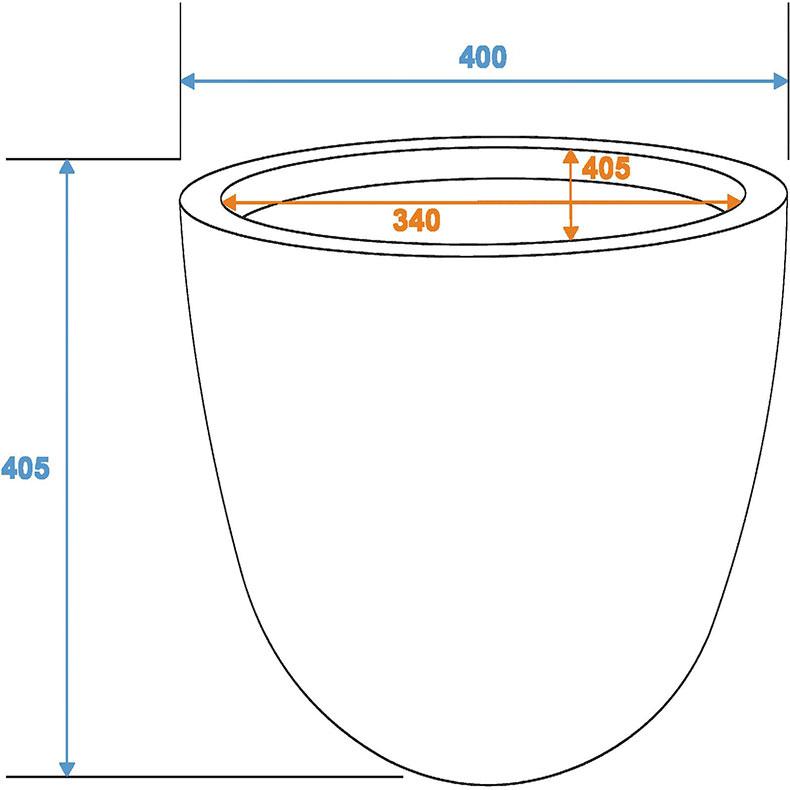 EUROPALMS Suojaruukku D40/H=40cm [) lasikuitua, savijäljitelmä