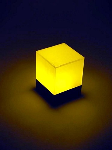EUROLITE DLD-2 LED Cube 72mm x 72mm x 100mm, 1x yellow LED simulates candlelight, works with batteries