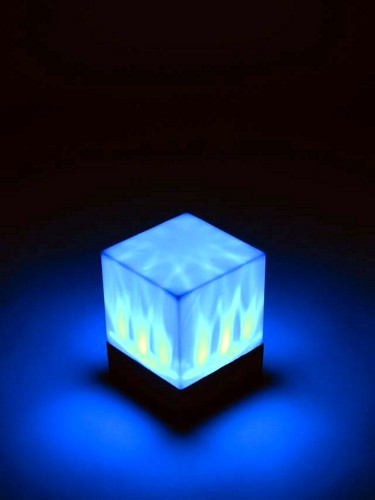 EUROLITE DLD-3 LED Cube 72mm x 72mm x 100mm, 1x RGB LED, integrated effect pattern offer lovely color changes, works with batteries
