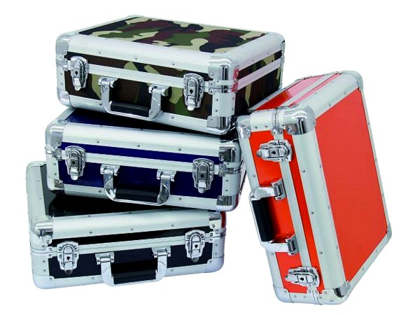 OMNITRONIC CD case ALU digital booking rounded camo, CD-levy case 90 CD-levylle tai DJM-500-600-800 mikserille!
