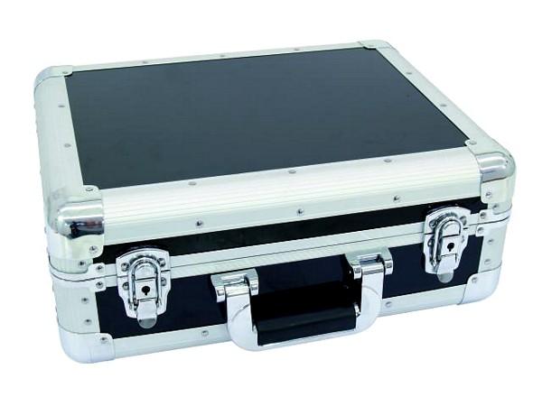 ROADINGER CD case ALU digital booking rounded black, CD-levy case 90 CD-levylle tai DJM-500-600-800 mikserille!
