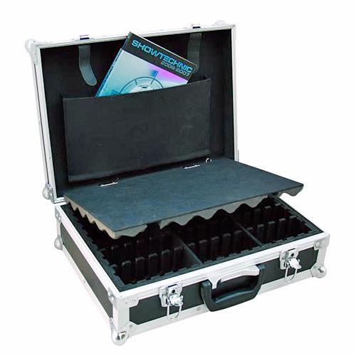 OMNITRONIC Kuljetuslaatikko mallia lokeroitu musta, lokeroiden koot säädettävissä.