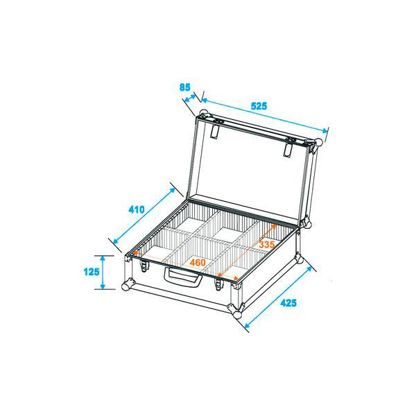 OMNITRONIC Kuljetuslaatikko mallia lokeroitu alumiinin värinen, lokeroiden koot säädettävissä. Universal divider case alu, A good present idea!!!