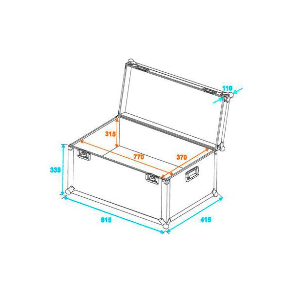 OMNITRONIC Kuljetuslaatikko Heavy Case yleiskäyttöön Universal transport case, heavy, 80x40 cm. Professional flight case