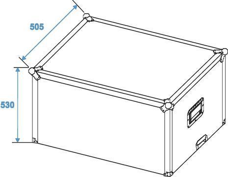 ROADINGER Kuljetuslaatikko kaapelikelalle pyörillä, laadukas case, joka on tehty mm. isoille kaukokaapeleille, tai muille vastaaville tuotteille. 4kpl laadukkaita pyöriä sekä tukevat nostokahvat. Casen ulkomitat 690 x 510 x 815 mm  sekä sisämitat 630 x 440 x 625 mm sekä paino n. 25kg.