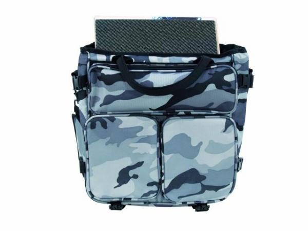 OMNITRONIC Record bag RP-50 camouflage urban camo, approx. 50 LPs