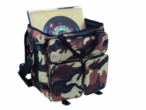 OMNITRONIC Record bag RP-50 camouflage desert brown, approx. 50 LPs