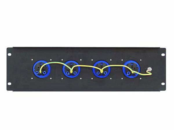 EUROLITE PDM 3U-4CEE Haaroitusrasiamoduuli räkkikiinnityksellä (483 x 132mm 19