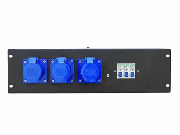 EUROLITE PDM 3U-3CEE Haaroitusrasia- ja vikavirtasuojakytkinmoduuli räkkikiinnityksellä (483 x 132 mm 19