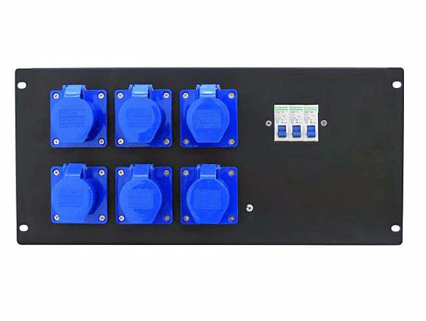 EUROLITE PDM 5U-6CEE Haaroitusrasia- ja vikavirtasuojakytkinmoduuli räkkikiinnityksellä (483 x 220mm 19