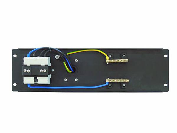 EUROLITE PDM 3U-32A/5 pins RCD Voimavirtapistoke- ja vikavirtasuojakytkinmoduuli räkkikiinnityksellä (483 x 132mm 19
