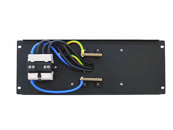 EUROLITE PDM 4U-63A/5 pins RCD Voimavirtapistoke- ja vikavirtasuojakytkinmoduuli räkkikiinnityksellä (483 x 176mm 19