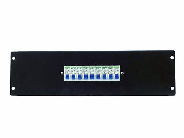 EUROLITE PDM 3U-9x16A FB vikavirtasuojakytkinmoduuli räkkikiinnityksellä (483 x 132mm 19
