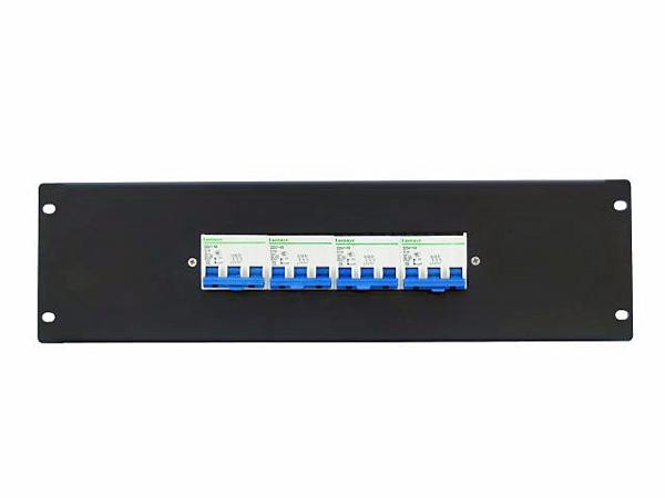 EUROLITE PDM 3U-4x16A FB 3 pins Vikavirtasuojakytkinmoduuli räkkikiinnityksellä (483 x 132mm 19