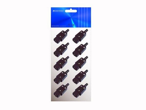 OMNITRONIC IEC 3 pin power socket, 10kpl paketti