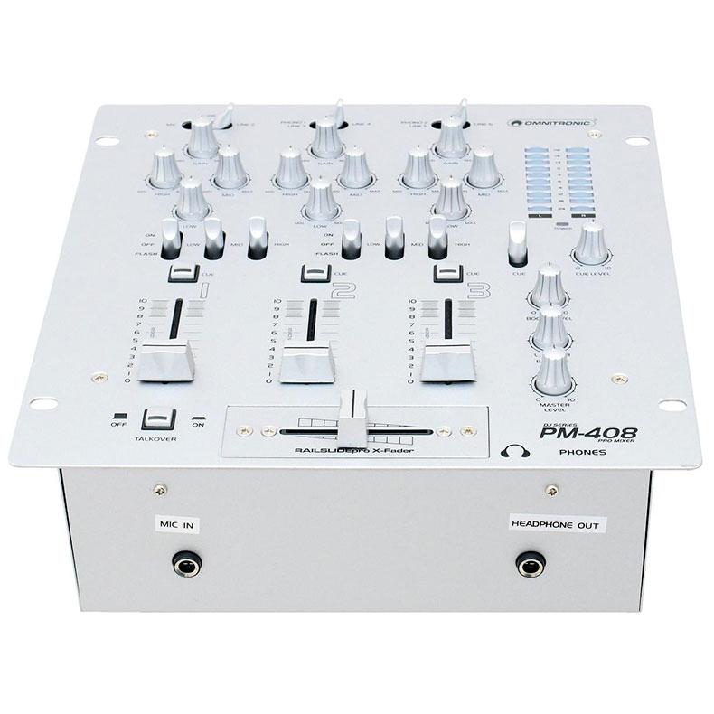 OMNITRONIC PM-408 Ammattitason DJ-mikser, discoland.fi