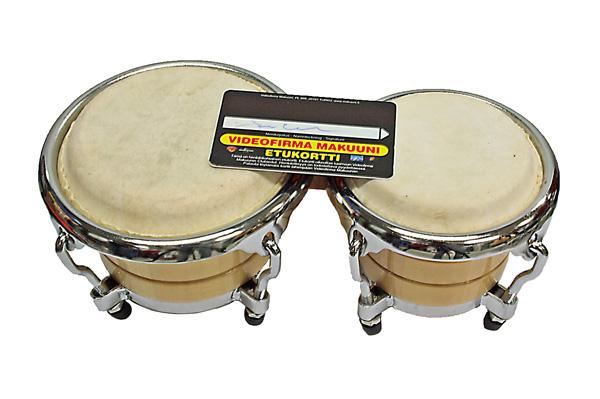 TJP Music Instruments JDB-106-E Mini Bongos, Metalli/ Puurunko sekä Kalvot Aidosta Nahasta (tuote poistuu)