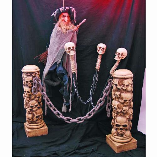 EUROPALMS Halloween Skeleton Barrier, height 125cm, chain length 150cm, Halloween luurankoaita