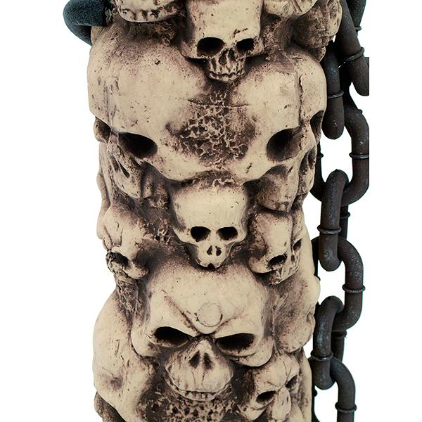 EUROPALMS Kivikallo Halloween-aita, tyylillä toteutettu, korkeus n. 85 cm. Halloween Barrier Stone Skull height 85 cm
