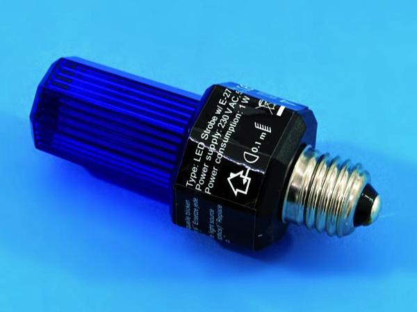 EUROLITE LED Strobe E-27 base, sininen