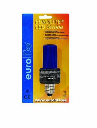 EUROLITE LED Strobe E-27 base, sininen, discoland.fi