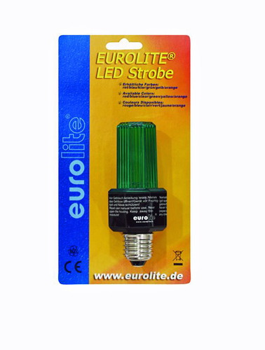 EUROLITE LED Strobe E-27 base, vihreä Green