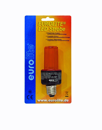 EUROLITE LED Strobe oranssi E-27 base, Orange