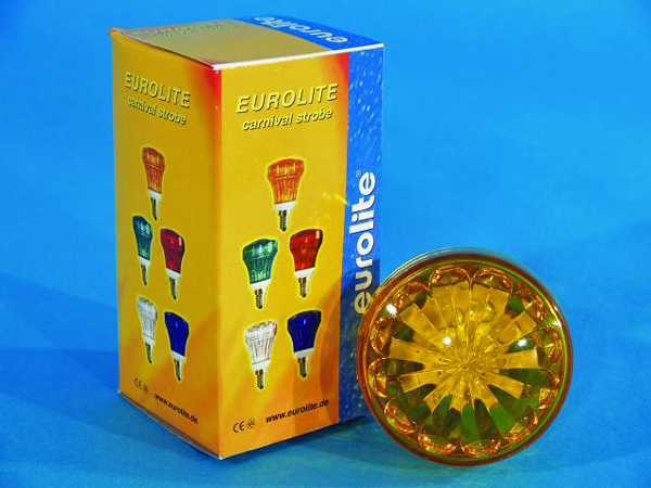 EUROLITE LED Carnival Strobe E-14, Yellow