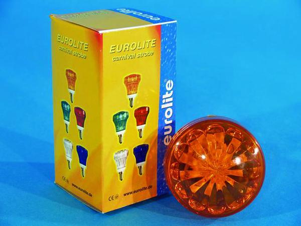 EUROLITE LED Carnival Strobe E-14, Orang, discoland.fi