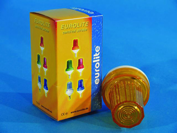 EUROLITE LED Strobe E-14 base, Yellow
