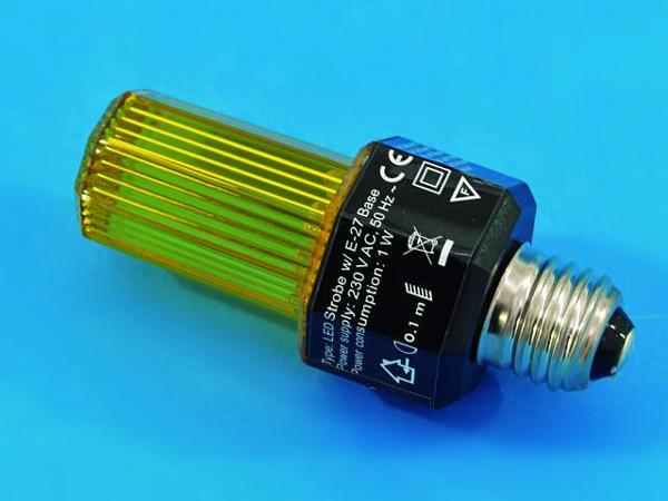 EUROLITE LED Strobe keltainen E-27 base, Yellow
