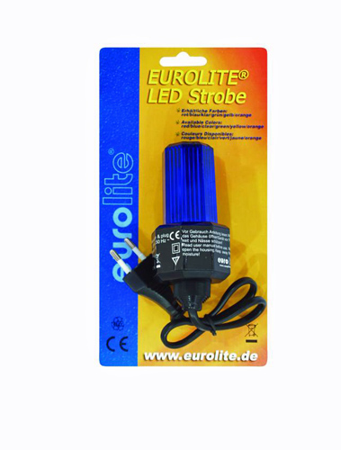 EUROLITE LED-Strobe cable and plug, Blue, discoland.fi