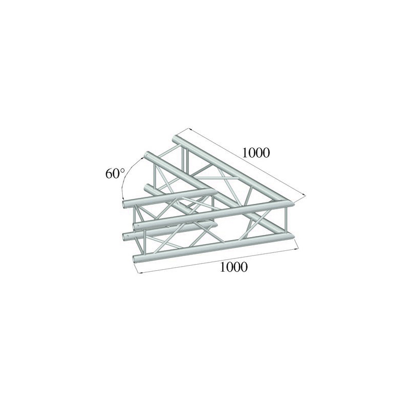 ALUTRUSS  QUADLOCK 2-tie kulmapala 60° 6082C-20. 2-way corner piece