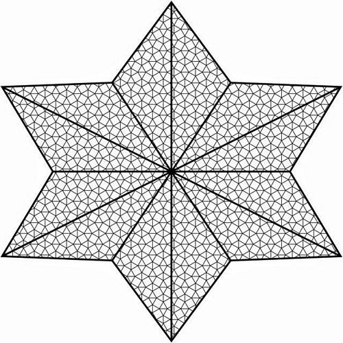 EUROPALMS Decoverkko tähden muotoinen, valkoinen pingoitettava. Deconet Star halkaisija 5m. Matereiaali 290gr / M2.