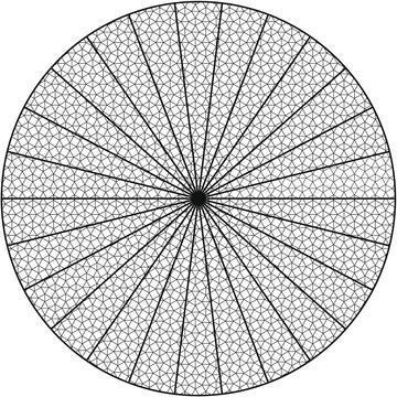EUROPALMS Decoverkko halkaisija 12-metriä ympyrän muotoinen. Deconet Circle O = 12m