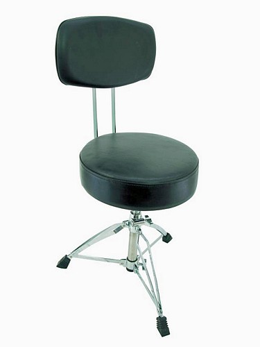 DIMAVERY DT-180 Drum Throne with backres, discoland.fi