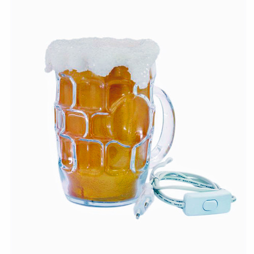DECO Cocktail lamp Beer stein, glass rough