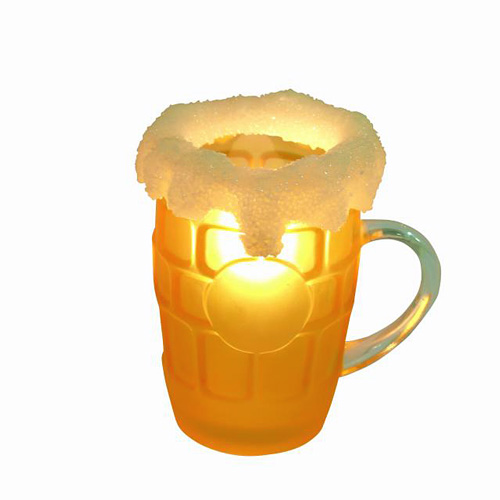 DECO Loppu!!Cocktail lamp Beer stein, glass clear