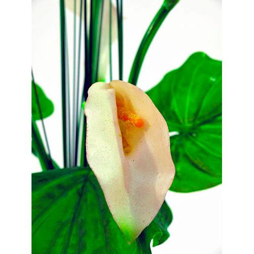 EUROPALMS 64cm Vehka hoikassa lasimaljassa. Lifelike Calla in a slim glass vase