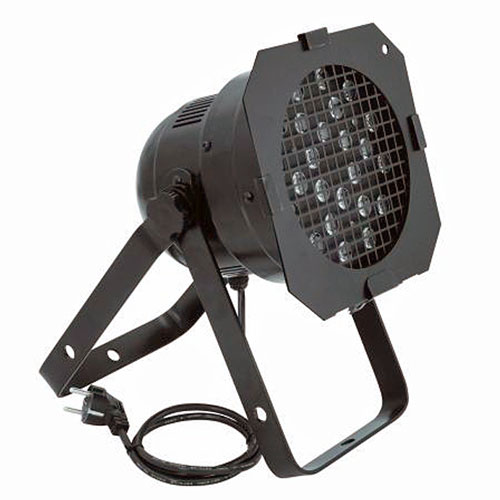 EUROLITE LED PAR-56 TCL Floor black, 25°, Professional floorspot as LED RGB DMX model! TCL= Tri-Color LEDs, behind every lens are 3 LEDs