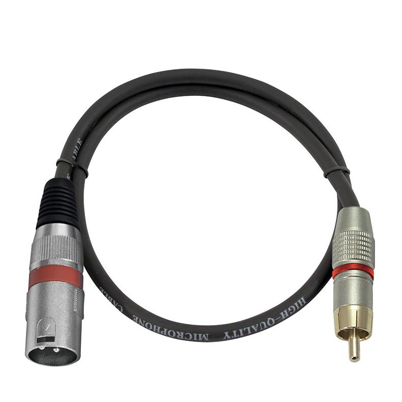 OMNITRONIC RCA-XLR-adapterikaapeli 0,6m, RCA - XLR-uros, väri punainen. Vahvaa kaapelia laadukkailla liittimillä. AAC-06