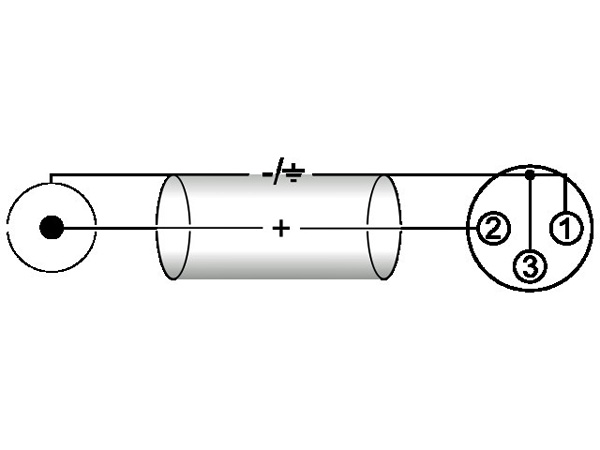 OMNITRONIC RCA-XLR-adapterikaapeli 2m, RCA - XLR-naaras, väri musta. AAC-20