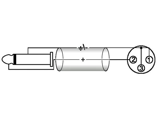 OMNITRONIC XLR-Plugi-adapterikaapeli 0,9m, XLR-naaras - Jack Plug 6,3mm mono, väri musta. AXK-09, ac-50